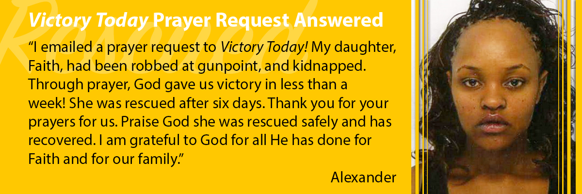 Prayer Request Answered