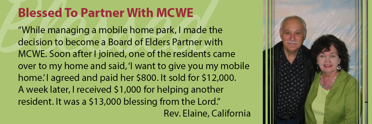 Blessed to Partner with MCWE