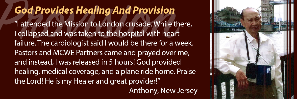 God Provides Healing and Provision