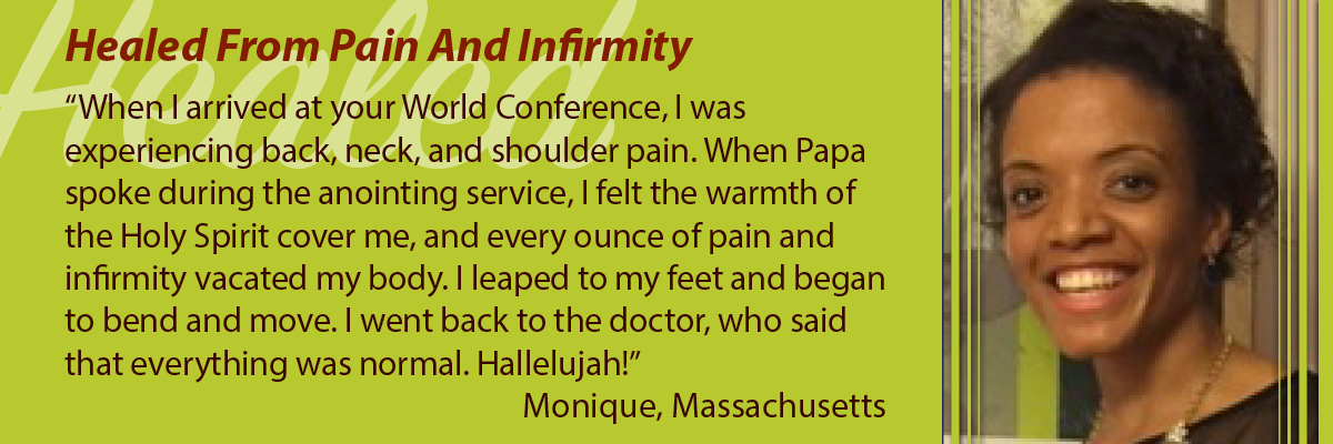 Healed from Pain and Infirmity