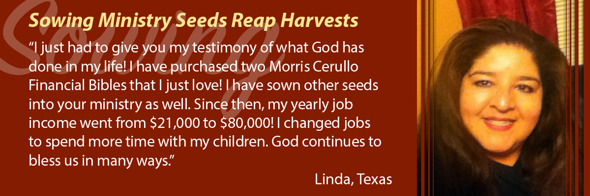 Sowing Ministry Seeds Reap Harvests
