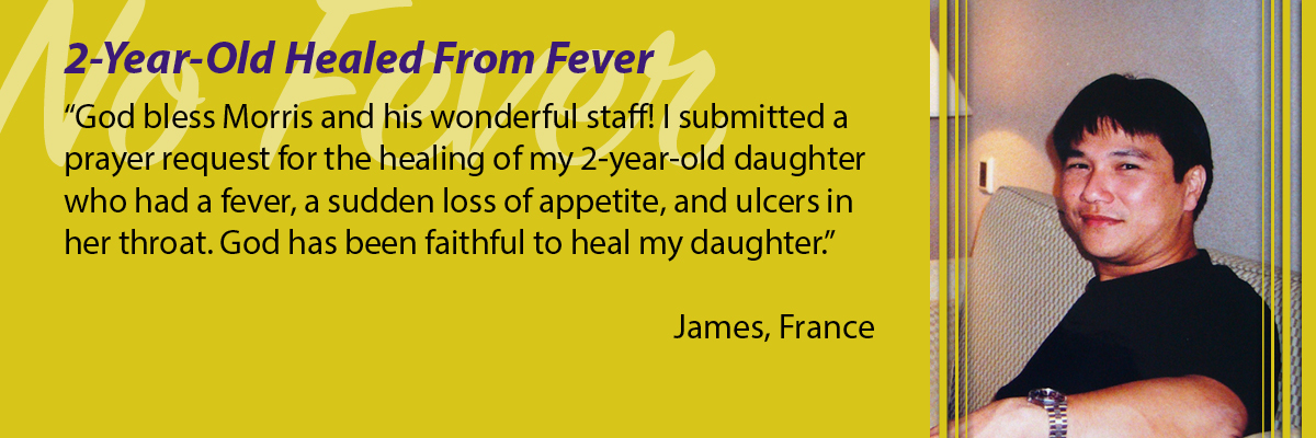 2-Year-Old Healed from Fever