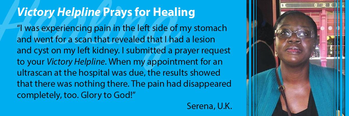 Victory Helpline Prays for Healing