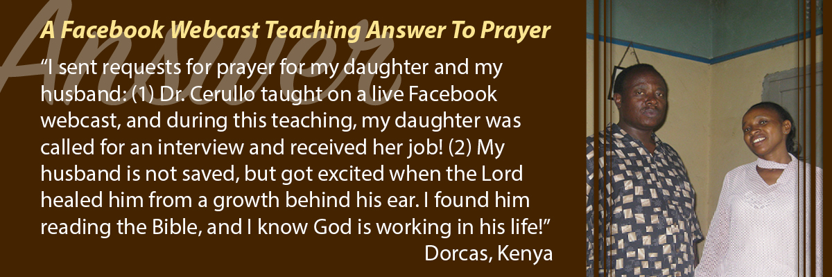 A Facebook Webcast Teaching Answer to Prayer